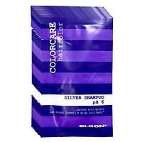 Dầu gội khử ánh sắc vàng Elgon Silver Colorcare shampoo dạng gói Italy 10ml - Set 10 gói