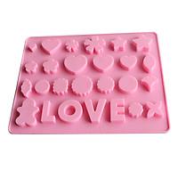 Khuôn silicon làm thạch rau câu, socola chữ Love