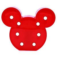 Đèn LED ngủ hình Chuột Mickey - Đỏ