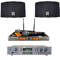 Dàn âm thanh karaoke gia đình VIP vang số, 2 loa, 2 micro COMBO3 - Hàng chính hãng