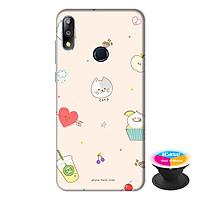 Ốp lưng điện thoại Asus Zenfone Max Pro M2 hình Mèo Con tặng kèm giá đỡ điện thoại iCase xinh xắn - Hàng chính hãng