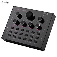 Muslady V12 Mini Sound Mixer USB 3.5mm TRRS Port with Sound Effects for Live Streaming Online Karaoke Recording on Phone