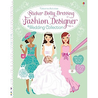 Usborne Sticker Dolly Dressing Fashion Designer Wedding Collection