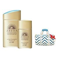 Bộ Đôi Chống nắng kiềm dầu khô thoáng hoàn hảo siêu tiết kiệm Anessa Gold Milk 60ml + Gold Milk 20ml - Tặng Túi trống thể thao Anessa