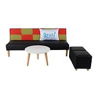 Combo - Trọn Bộ Sofa Phòng Khách BizSofa Bed MLF-181 (Sofa giường + Bàn sofa + Ghế đôn)