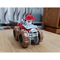 Đồ chơi chó cứu hộ Paw Patrol, mô hình đồ chơi chú chó cứu hộ Marshall, bánh xe di chuyển nhanh