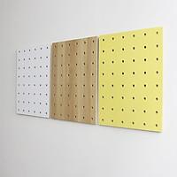 Bộ 3 Bảng Gỗ Đục Lỗ SMLIFE Pegboard Mix 80x60cm - Bảng Trang Trí Bằng Gỗ Plywood Phủ Laminate Cao Cấp