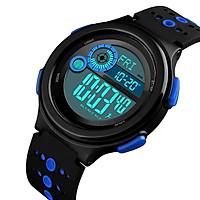 SKMEI 1375 Men Analog Digital Watch Fashion Casual Pedometer Sports Wristwatch Compass 3 Alarm Time Display 3ATM