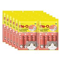 12 Gói Đồ Ăn Mèo Me-O Bánh Thưởng Dạng Kem Vị Cá Hồi (60g)