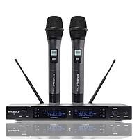 Đầu Thu Karaoke Không Dây Shubole K10 + 2 Micro Không Dây UHF Chính Hãng