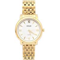 Đồng hồ Nam Halei - HL550 dây vàng (Tặng pin Nhật sẵn trong đồng hồ + Móc Khóa gỗ Đồng hồ 888 y hình + Hộp Chính Hãng + thẻ bảo hành)