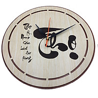 Đồng hồ treo tường chữ Thọ trang trí