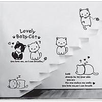 Decal dán tường mèo con dễ thương AmyShop DKN044 (110x125cm)