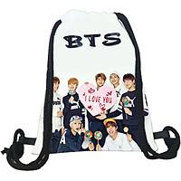Balo dây rút BTS in hình nhóm nhạc kpop BLR-BTS1