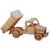 Mô hình lắp ghép 3D bằng gỗ the Truck -Xe tải