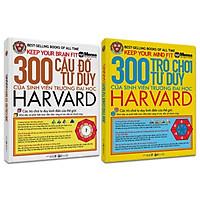Combo 2 Cuốn 300 Câu Đố và 300 Trò Chơi Tư Duy Của Sinh Viên Trường Đại Học Harvard