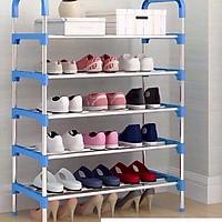 Kệ để giày dép inox  5 tầng 8800-giao màu ngẫu nhiên