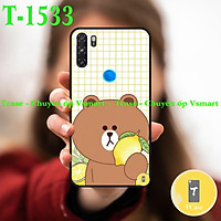 Ốp lưng Vsmart Live / Active 3 / Joy 3 / Star 3 / Bee 3 - Ốp dẻo đen in hình Gấu nâu Cute