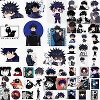 Ảnh Sticker Gojo satoru itadori 30-60 cái ép lụa khác nhau/Hình dán decal JuJutsu Kaisen