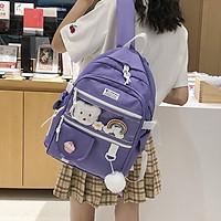 Balo ulzzang nữ có ngăn trong suốt (EP34), balo thời trang nữ đi học, ba lô học sinh trung học kiểu Hàn