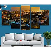 Bộ 5 tranh canvas treo tường phong cảnh thành phố Đà Lạt - B5T037