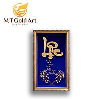 Tranh chữ lộc dát vàng 24k ( 35x55cm) MT Gold Art- Hàng chính hãng, trang trí nhà cửa, phòng làm việc, quà tặng sếp, đối tác, khách hàng, tân gia, khai trương