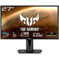 Màn Hình TUF Gaming Asus VG27AQ 27 inch WQHD (2560 x 1440) 1ms (MPRT) 165Hz IPS G-Sync Stereo Speakers 2W x 2 - Hàng Chính Hãng
