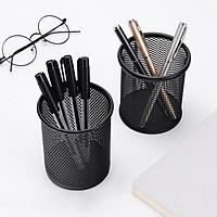 Jiebi Shi metal pen holder multi-function desktop storage office supplies
