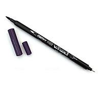 Bút lông hai đầu màu nước Marvy LePlume II 1122 - Brush/ Extra fine tip - Eggplant (107)