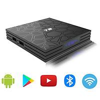Android Tivi Box T9, Ram 4G, Rom 32G, Bluetooth cài sẵn bộ ứng dụng giải trí miễn phí vĩnh viễn