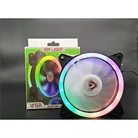 Fan Case V202B LED RGB (12cm) - Gắn Trực tiếp lên Nguồn / Tự Chuyển màu RGB - lk1984 - hàng nhập khẩu