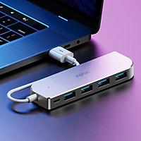 Hub USB 5 in 1 (4 cổng USB 2.0 và 1 cổng sạc Micro-USB) thương hiệu Inphic- Hàng Nhập Khẩu