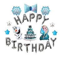 Sét bong bóng trang trí sinh nhật công chúa ELSA cho bé - kèm BƠM xinh xắn