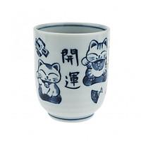 Cốc uống trà Nhật Bản hoạ tiết cổ điển hình Mèo Thần Tài cao cấp EVAN- JB075
