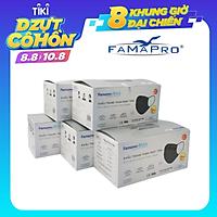 [[ Xuất Khẩu Mỹ ]] - COMBO 5 HỘP - Khẩu Trang Y Tế Cao Cấp FAMAPRO - 4 Lớp Kháng Khuẩn / 99% Lọc Khuẩn, Bụi, Virus Tốt Nhất / Người Lớn - [ CB5 - MAX - HỘP ]