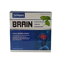 Hoạt huyết dưỡng não Brain - bổ sung ginkgo biloba, coenzym Q10, Nattokinase - Hỗ trợ tăng cường tuần hoàn não, phòng ngừa đột quỵ - Hộp 100 viên nang mềm