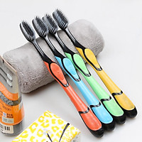 Bộ 10 bàn chải đánh răng than hoạt tính- bàn chải đánh răng sợi mềm mại bảo vệ răng miệng
