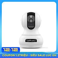 Camera IP Wifi Ebitcam E3 phân giải 2.0MP 1080P siêu nét hồng ngoại ban đêm - đàm thoại 2 chiều (Trắng) hàng chính hãng