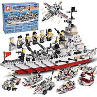 Bộ đồ chơi xếp hình KAVY tàu tuần tra với 1005 chi tiết nhiều tạo hình nhân vật khác nhau nhựa ABS an toàn