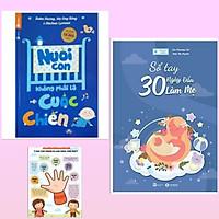Combo bí quyết nuôi con hay cho các mẹ: Sổ Tay 30 Ngày Đầu Làm Mẹ + Nuôi Con Không Phải Là Cuộc Chiến (Tái Bản 2020) + Poster an toàn cho con yêu