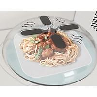 Bộ 2 nắp đậy thức ăn trong lò vi sóng+ Tặng kèm khăn lau đa năng nhà bếp+Hình dán tủ lạnh-Nắp đậy thực phẩm đa năng cao cấp, chịu nhiệt tốt