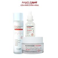 Combo Sản Phẩm Nước Thần, Huyết Thanh, Kem Dưỡng Mờ Nám, Dưỡng Trắng Angel Liquid Glutathione Plus Niacinamide