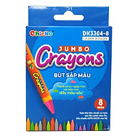 Bộ 2 Bút Sáp Màu Chicko Jumbo Crayons - 8 Màu - DK3304-8