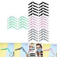 40 Pieces Silicone Nose Bridge Pads Bar Prevent Fogging Inner Holder Clips