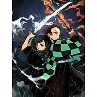 Tranh Poster kimetsu no Yaiba A4 combo 10 tấm khác nhau