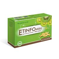 Etinfo 400IU Bổ sung vitamin E thiên nhiên 400 iU giúp ngăn ngừa lão hóa - Hộp 30 viên