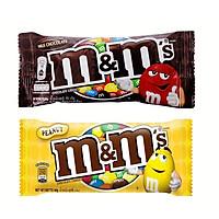[Chỉ giao HN] Combo 1 kẹo M&M Socola sữa và 1 kẹo M&M socola đậu phộng 37g
