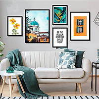 Bộ khung ảnh treo tường composite Hoa Thiên Điểu tặng đinh 3 chân  KA234