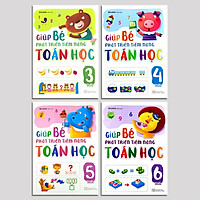 Combo 4 Cuốn Sách Giúp Bé Phát Triển Tiềm Năng Toán Học Cho Trẻ Từ 3-6 Tuổi