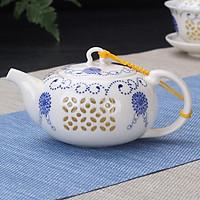Ấm pha trà xuyên sáng Cúc Xanh